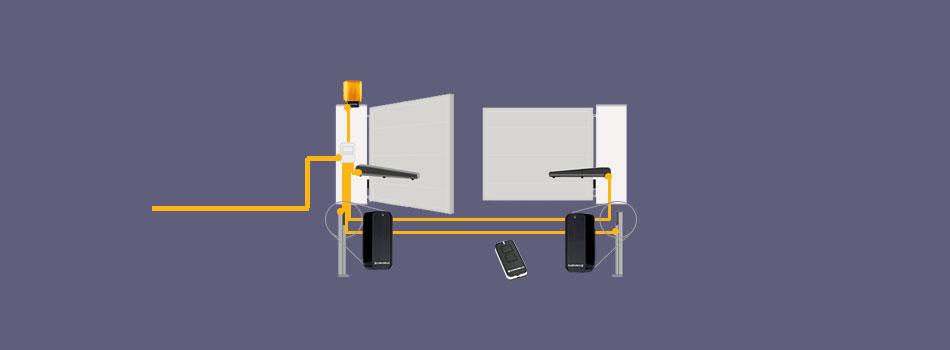 Схема розведення кабелів
